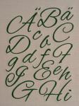 Buchstaben-Alphabet  – Schrift Alex Brush - Stickdateien, Stickmuster