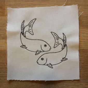 Aufnäher-Filzaufnäher Sternzeichen Fische