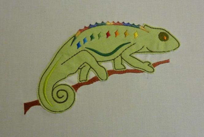 Chameleon 13x18 Applikation - Stickdateien, Stickmuster