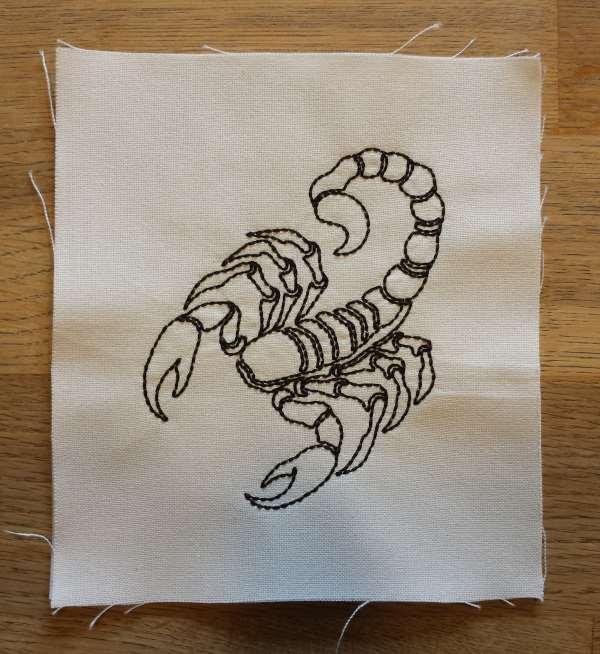 Aufnäher-Filzaufnäher Sternzeichen Skorpion